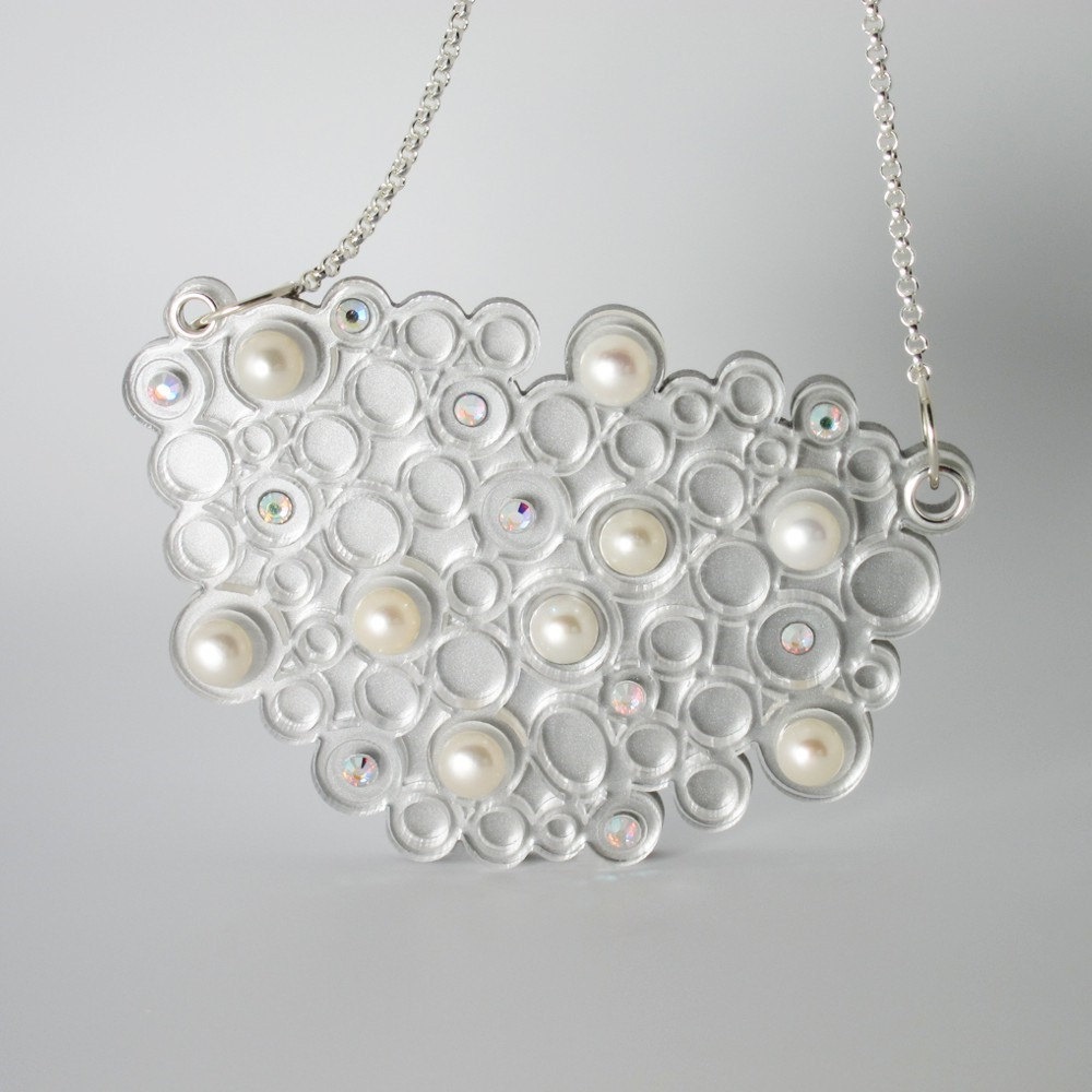 Laser Cut Acrylic Bubbles Necklace - IntoIt Series