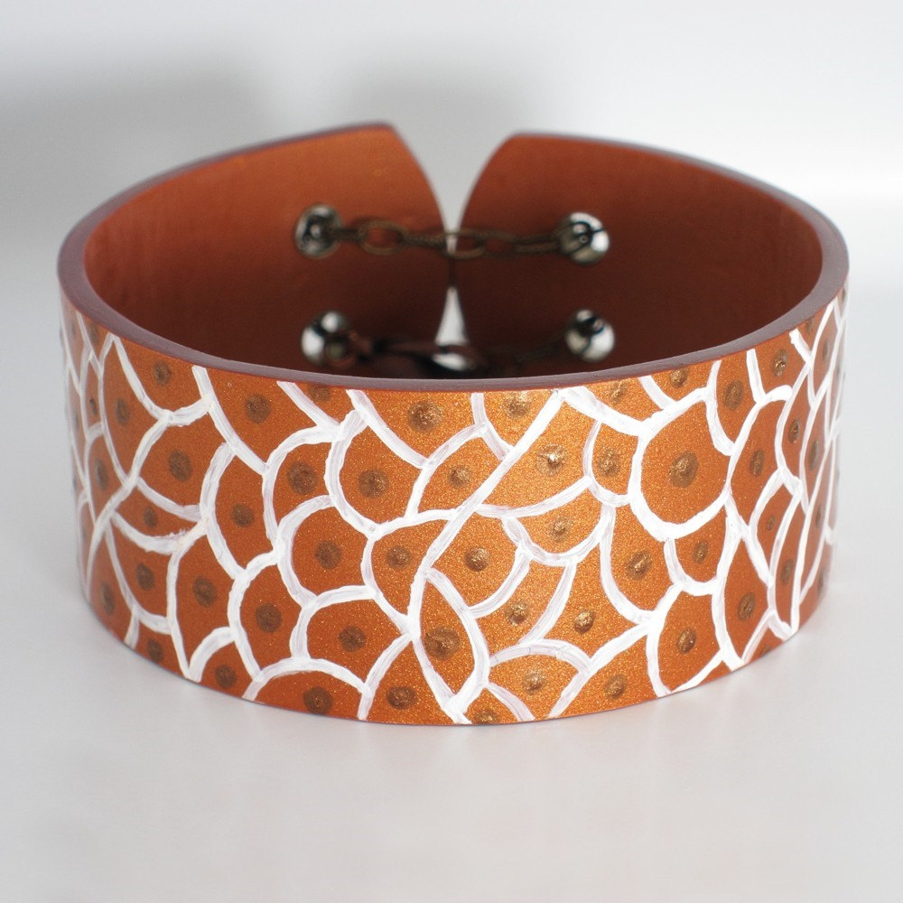 Hand-Painted Cuff Bracelet ORGANIC CELL
